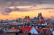 Leinwandbild Motiv Amsterdam, Netherlands Rooftop View