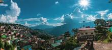 Panorama Of The Gangtok City
