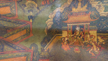Part Of The Mural Paintings Of Chinese Tibetan Temples, Historical Relics