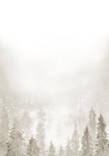 Elegant Christmas Background. Christmas Snowy Winter Design.