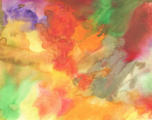 Dramatic Watercolor Background In Various Dark Natural Colors.