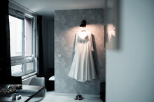 Beautiful Wedding Dresses Waiting For Bride, Magical Atmosphere, Wedding Day