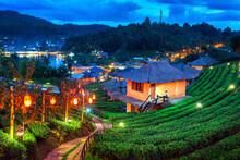 Ban Rak Thai Village In Mae Hong Son Province, Thailand.