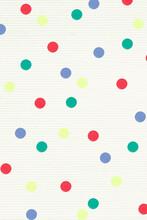 Artsy Colorful Vector Polka Dot Pattern Textured Banner