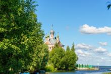 Pereslavl-Zalessky, Russia. Church Of The Forty Martyrs Of Sebastia. Lake Pleshcheyevo