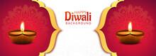 Beautiful Decorative Diwali Diya Banner Design