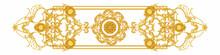 Golden Decorative Element In Baroque Style