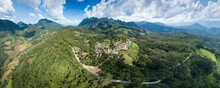 Doi Luang Chiang Dao Mountains Panorama Aerial View Landmarks Travel Place Of Chiangmai, Thailand