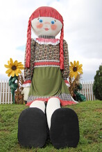 Giant Raggedy Ann Doll With Sunflowers
