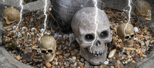 GHOULS, GHOSTS AND SLELETONS OF HALLOWEEN