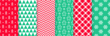 Christmas Seamless Pattern. Vector Illustration. Collection Festive Backgrounds.