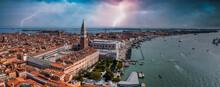 Aerial View Of Venice Near Saint Mark's Square
