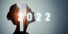 2022年イメージ ビジネス向け年賀状素材 人と社会
