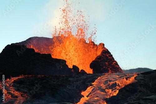 Stampa su Tela volcan 4