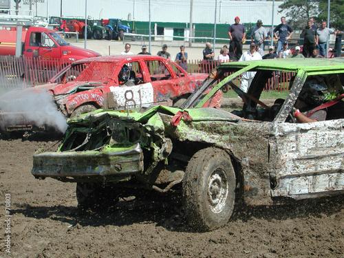Cuadros en Lienzo demolition derby