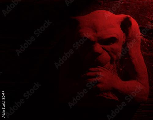 Fototapeta red gargoyle