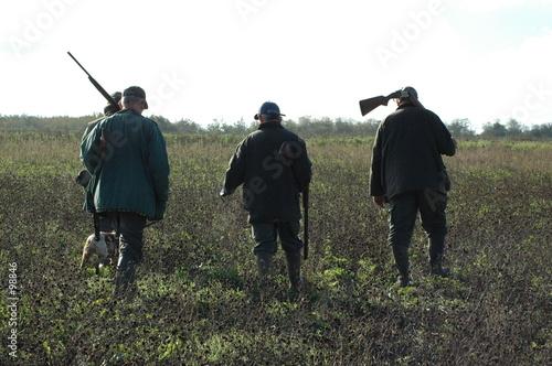 chasseurs Fotobehang