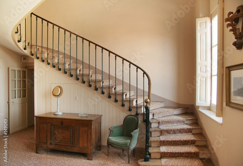 Canvas-taulu winding staircase