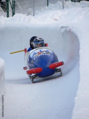 Stampa su Tela bobsleigh équipe de france