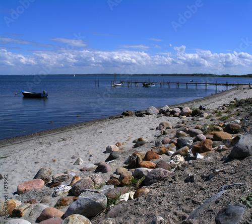 Obraz na plátně view of struer bay, limfjorden, jutland denmark