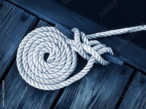 Fotografia, Obraz boat rope
