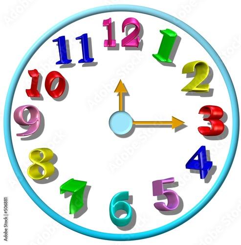 children's 3d clock #506881