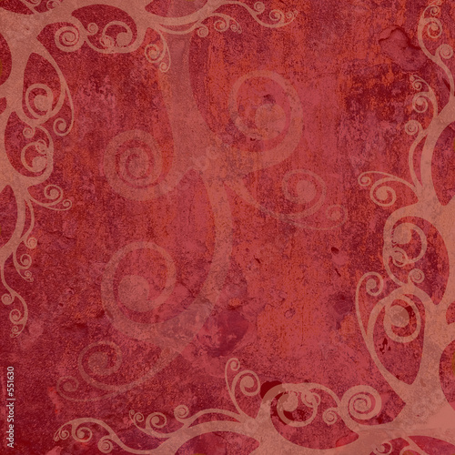 red artistic frame #551630