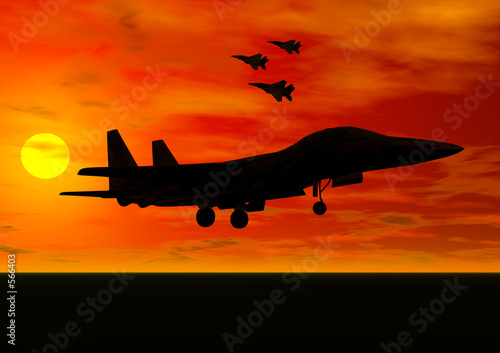 Wallpaper Mural jet fighter taking off