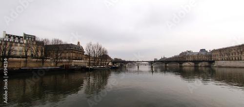 france, paris: seine river, pont des arts in winter #594234