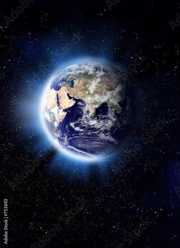earth light Fototapet