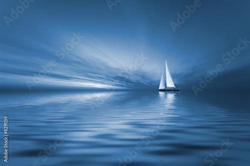 canvas print motiv - Eric Gevaert : sailing and sunset