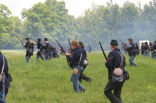 Leinwand Poster civil war re-enactment