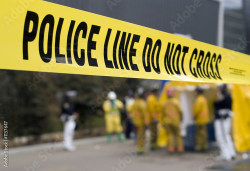 Valokuvatapetti police line-hazmat