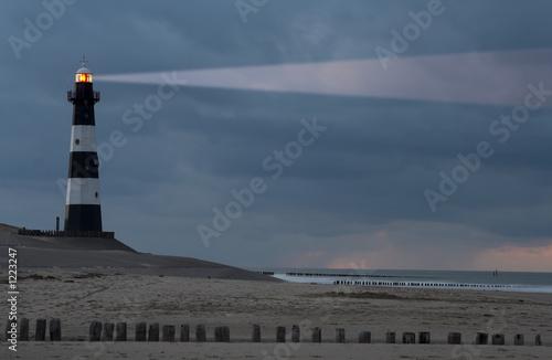 lighthouse in the dusk Fototapeta