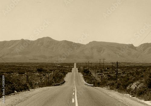 Fototapeta long road ahead