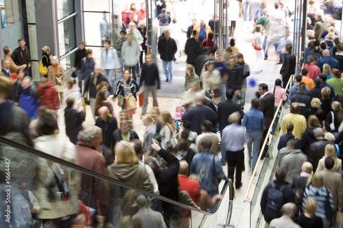 Foto Einkaufszentrum Menschenmenge