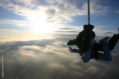 Fototapeta tandem skydive