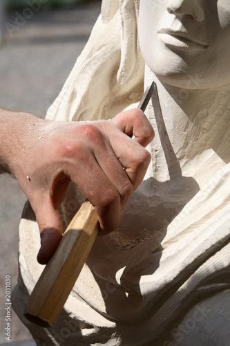 Slika na platnu sculpteur sur pierre