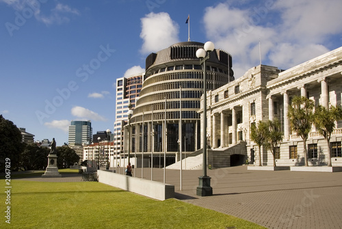 parliament and beehive, wellington