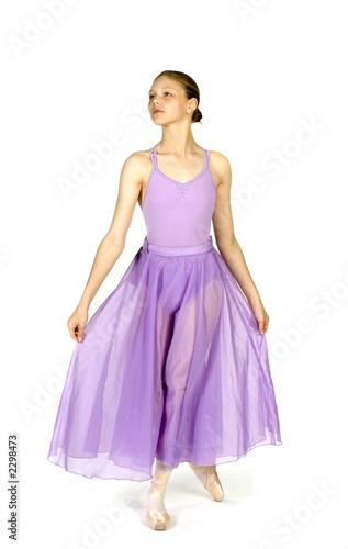 Slika na platnu ballerina about to curtsey