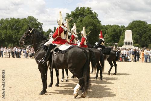 royal cavalry on parade Fototapet