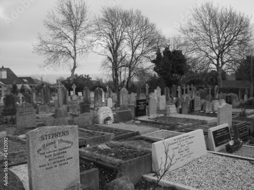 Fototapeta graveyard in greystones