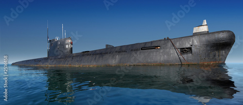 Canvas Print russian submarine