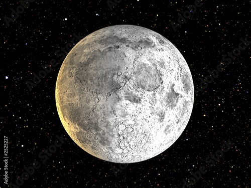 Canvas Print the moon