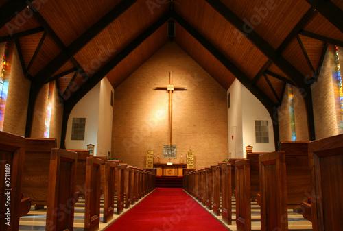 inside of a church Fototapete