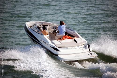 Stampa su Tela motor boat