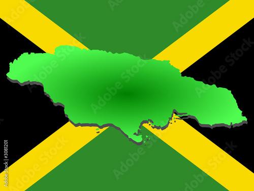map of jamaica Fotobehang