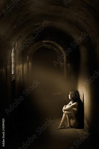 Leinwand Poster atmospheric nude
