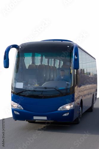 tour bus isolated on white rides
