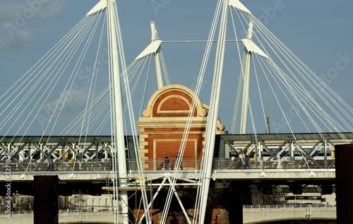charing cross pedestrian bridge фототапет